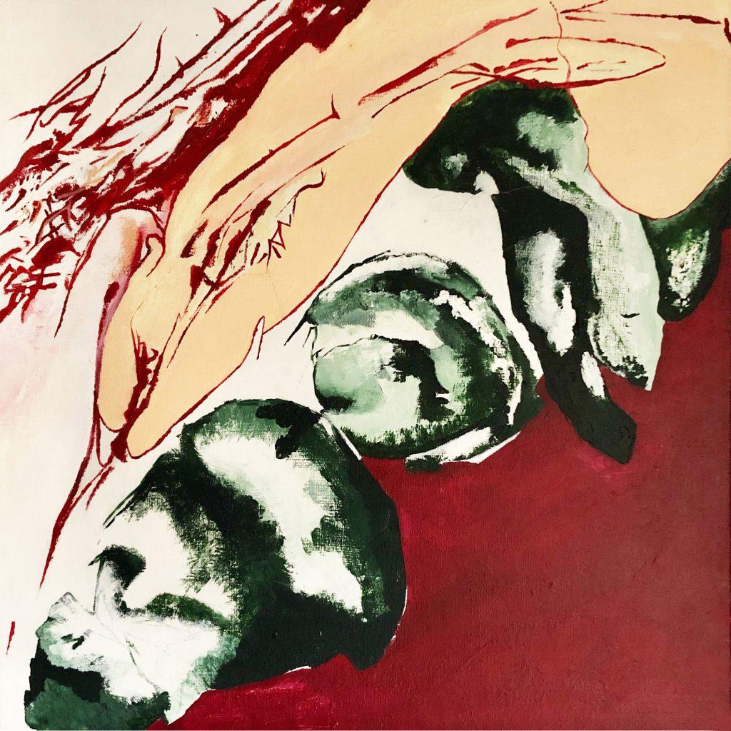 anatomical prick and cranium (1990) art by manuela tjarkina vermeeren
