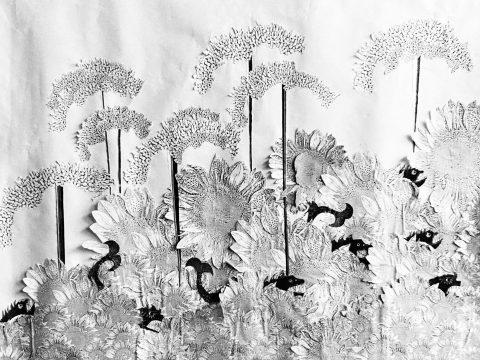 droogzwemmen (1990) collage by manuela tjarkina vermeeren