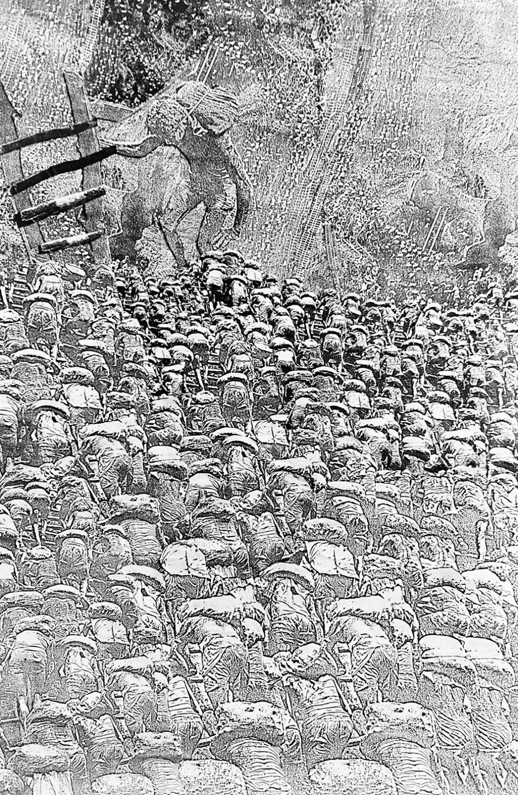just some miners (1990) collage by manuela tjarkina vermeeren